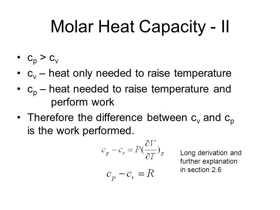Molar Heat Capacity - II
