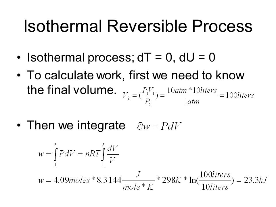 Isothermal Reversible Process
