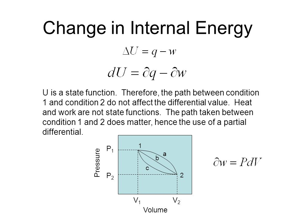 Change in Internal Energy