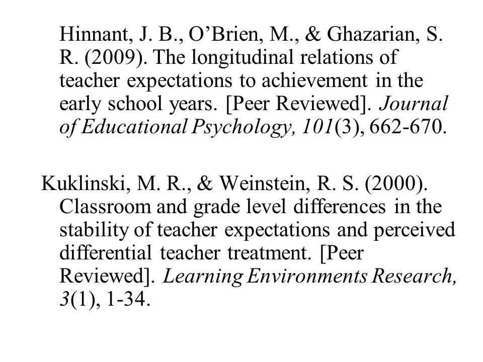 Hinnant, J. B. , O'Brien, M. , & Ghazarian, S. R. (2009)
