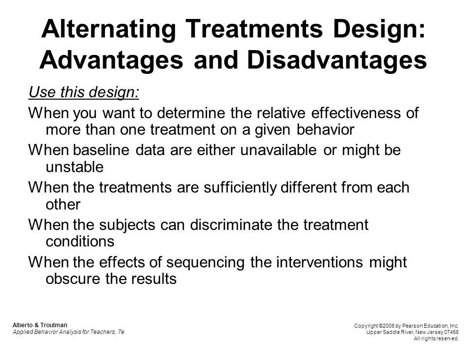 Alternating Treatments Design: Advantages and Disadvantages