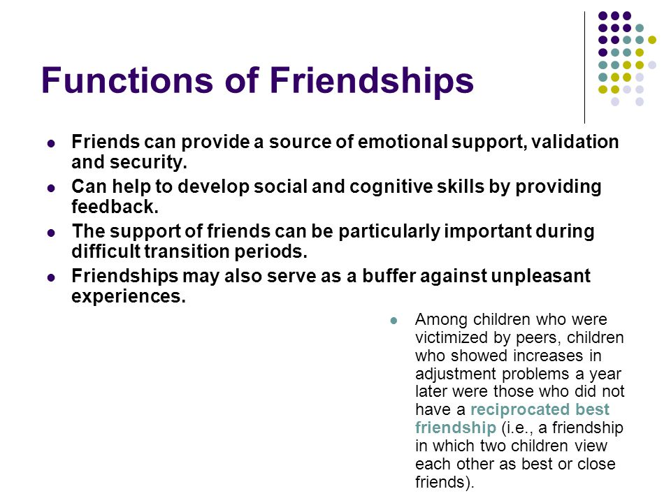 Functions of Friendships