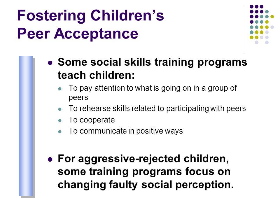 Fostering Children's Peer Acceptance