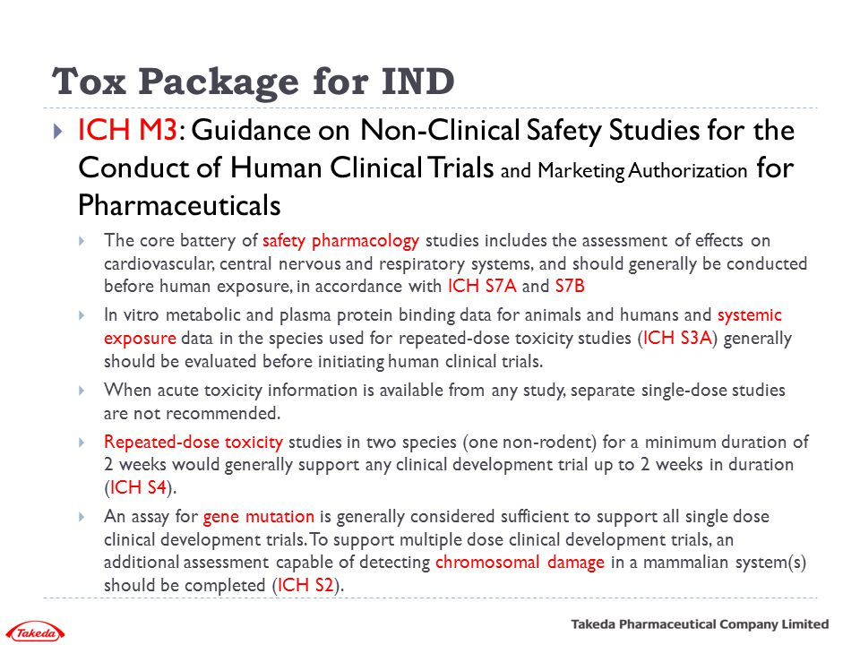Tox Package for IND