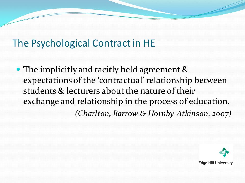 The Psychological Contract in HE