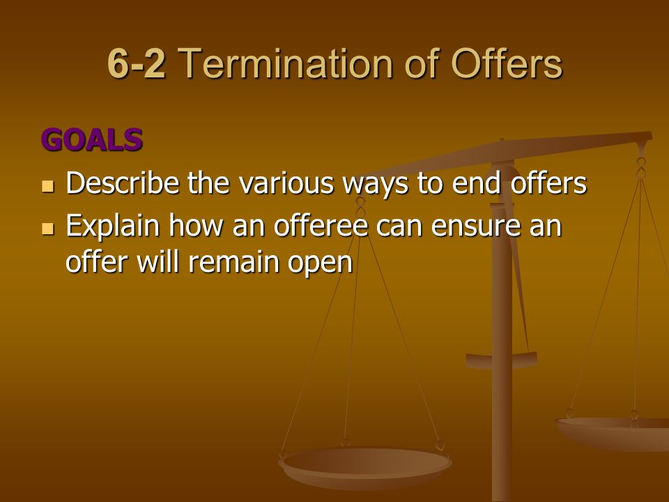 6-2 Termination of Offers