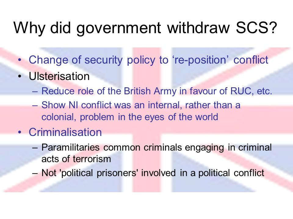 Why did government withdraw SCS