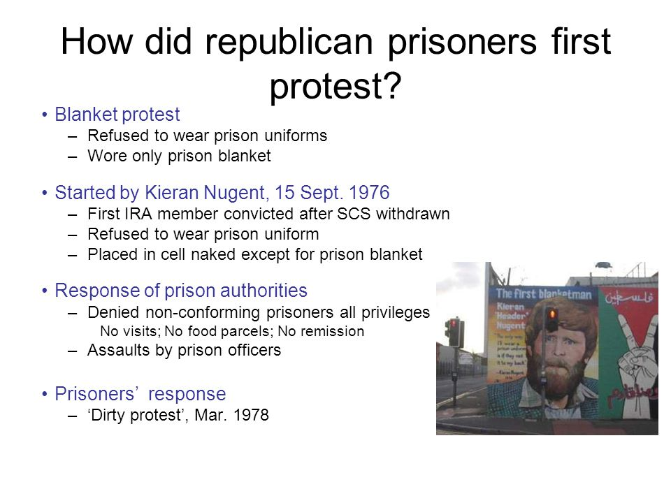 How did republican prisoners first protest