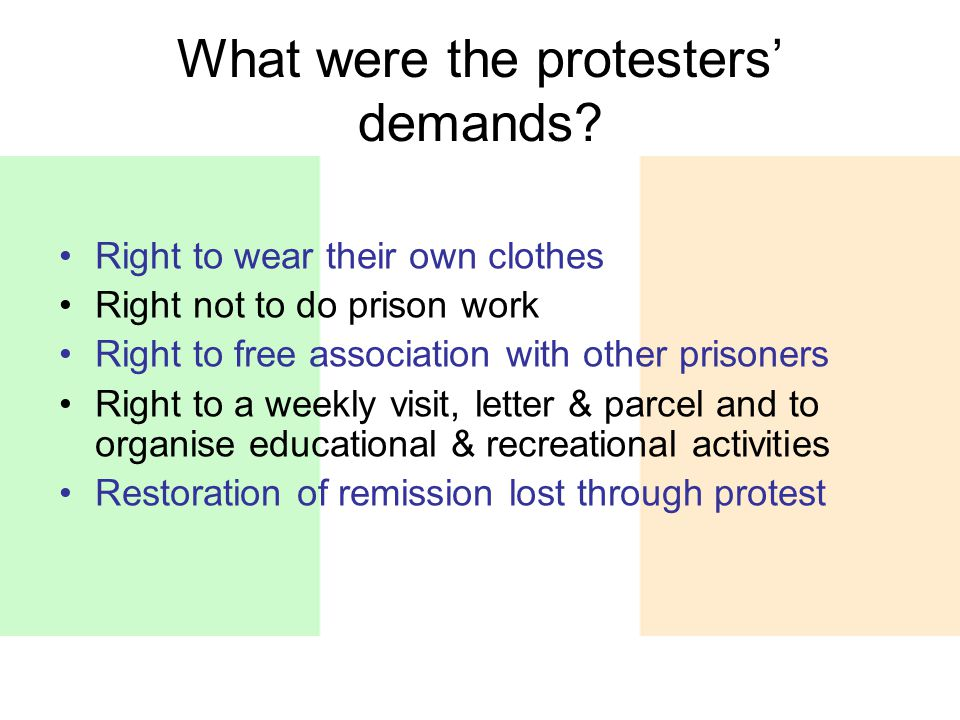 What were the protesters' demands