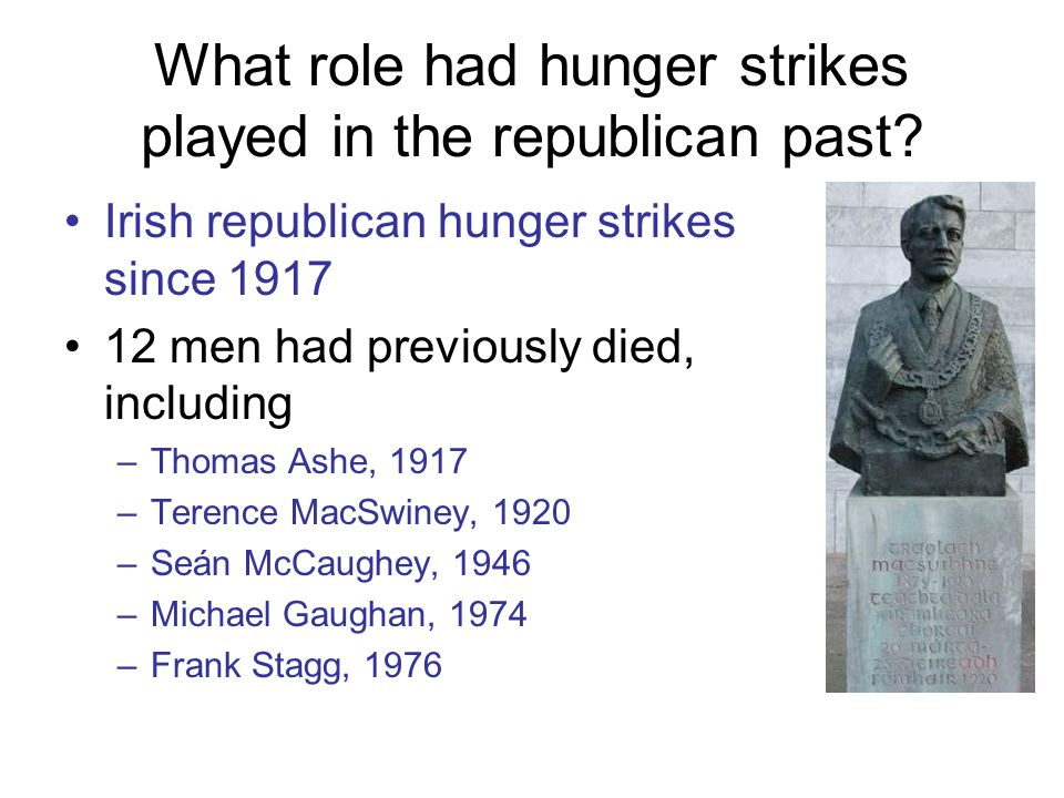 What role had hunger strikes played in the republican past