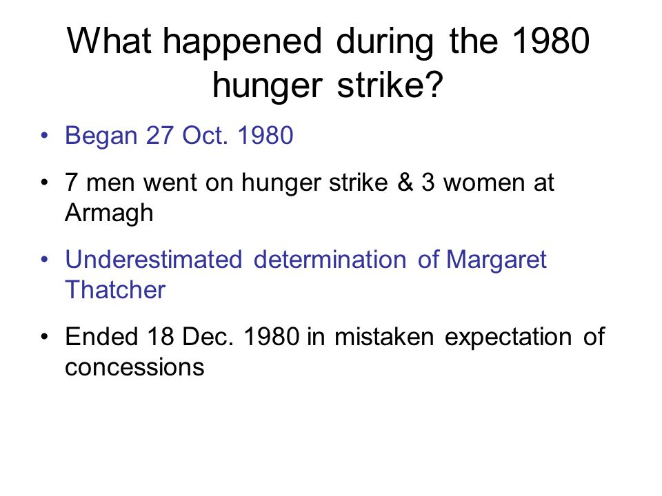 What happened during the 1980 hunger strike