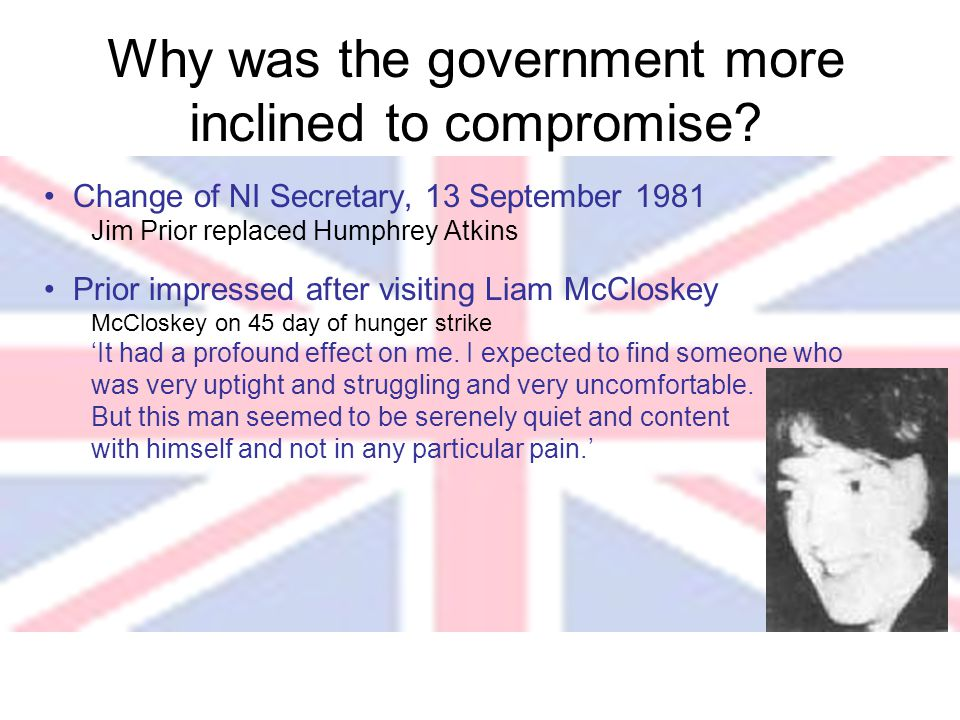 Why was the government more inclined to compromise