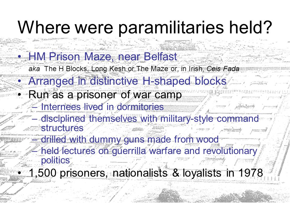 Where were paramilitaries held