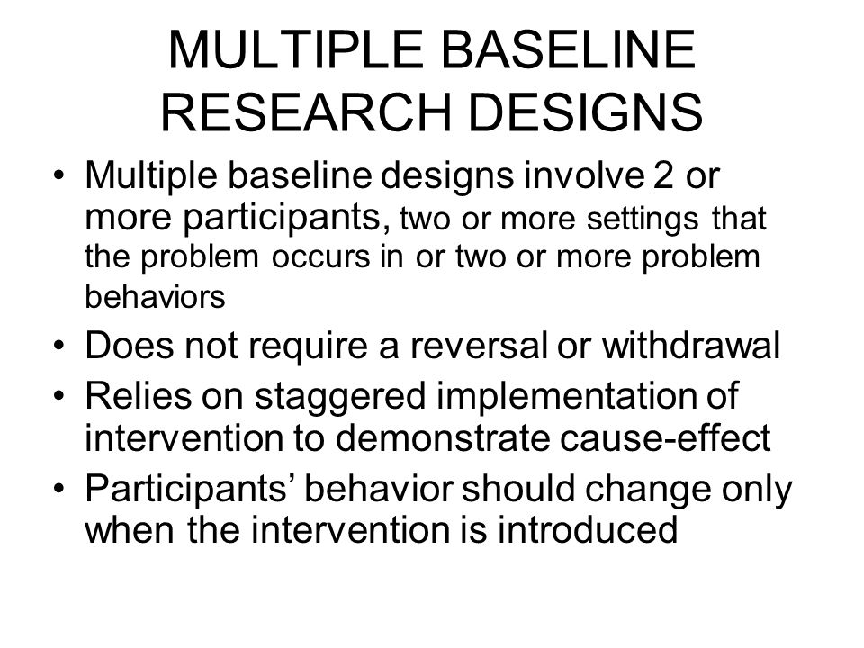 Chapter 9 Multiple Baseline and Changing Criterion Designs ...