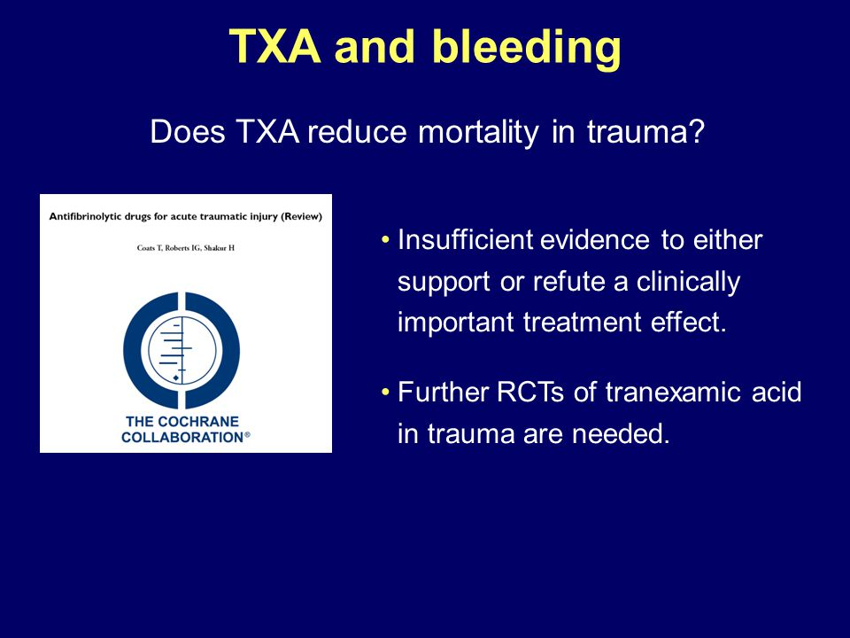 Does TXA reduce mortality in trauma