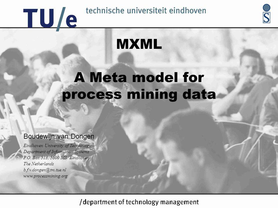 MXML A Meta model for process mining data