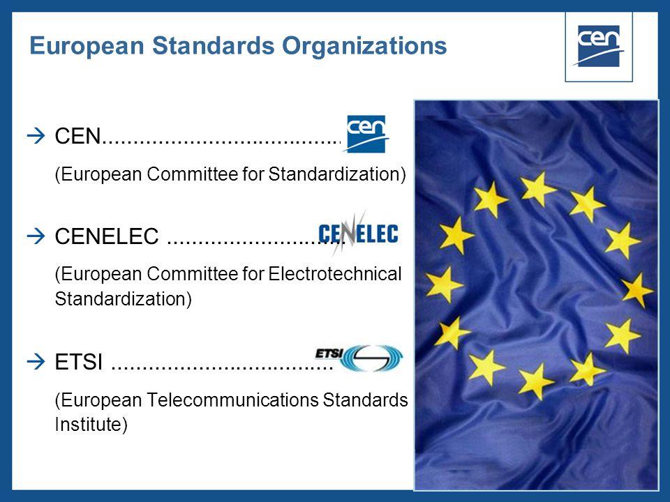 European Standards Organizations