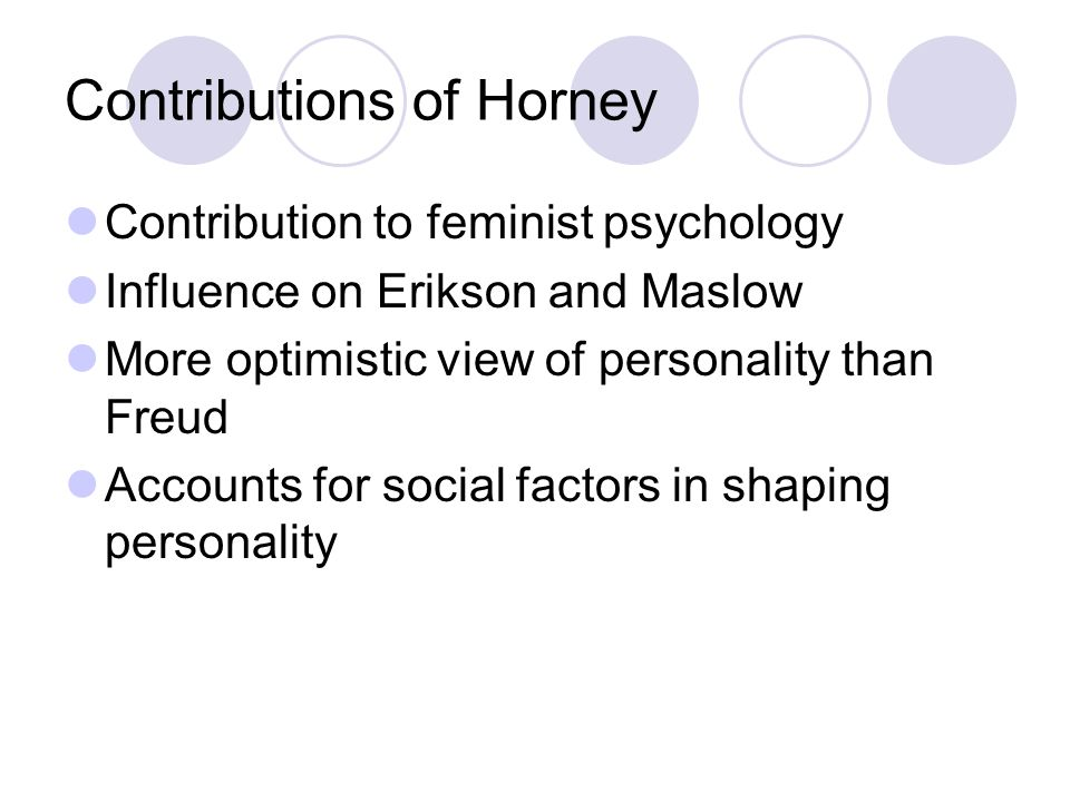 Contributions of Horney