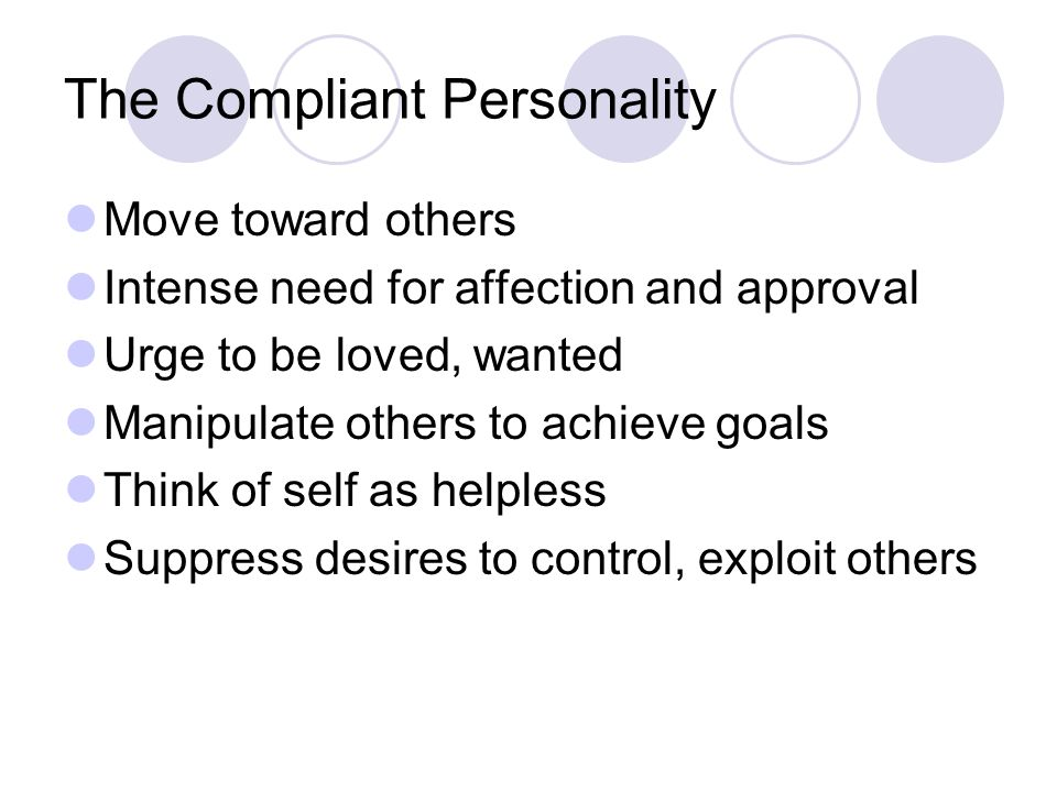 The Compliant Personality
