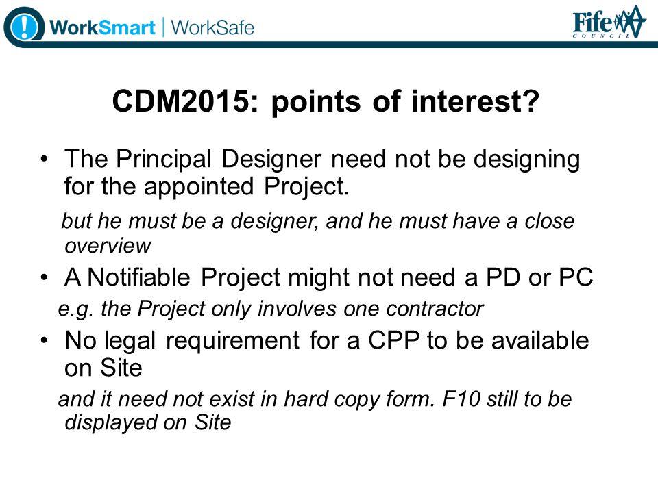 CDM2015: points of interest