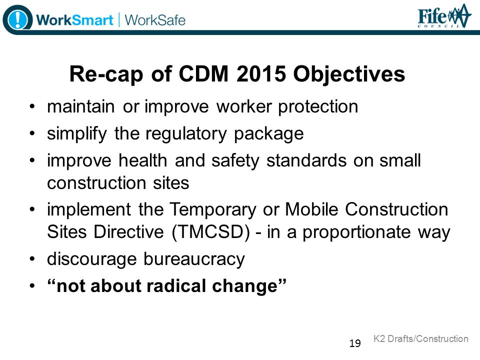 Re-cap of CDM 2015 Objectives