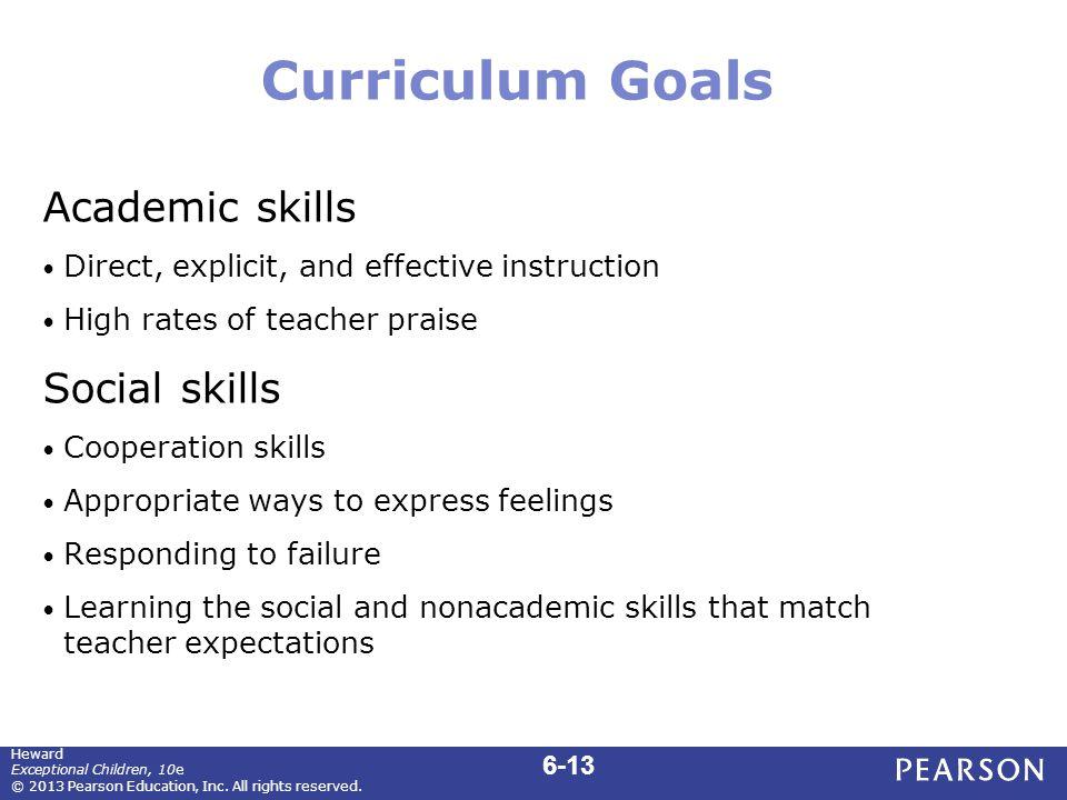 Curriculum Goals (cont.)