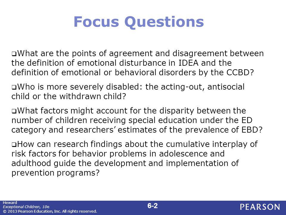 Focus Questions (cont.)