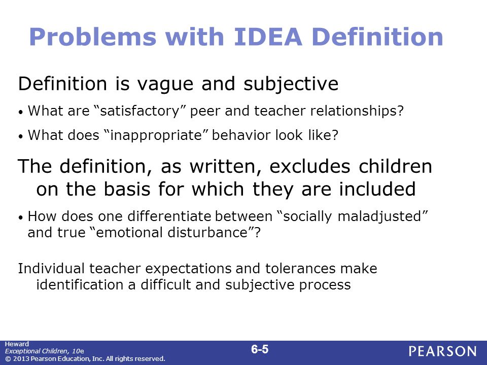 CCBD Definition of Emotional or Behavioral Disorders