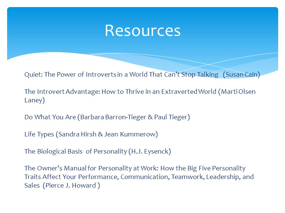 Resources Quiet: The Power of Introverts in a World That Can't Stop Talking (Susan Cain)