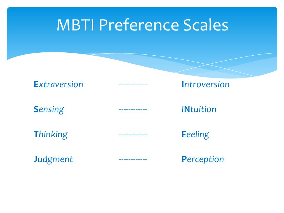MBTI Preference Scales