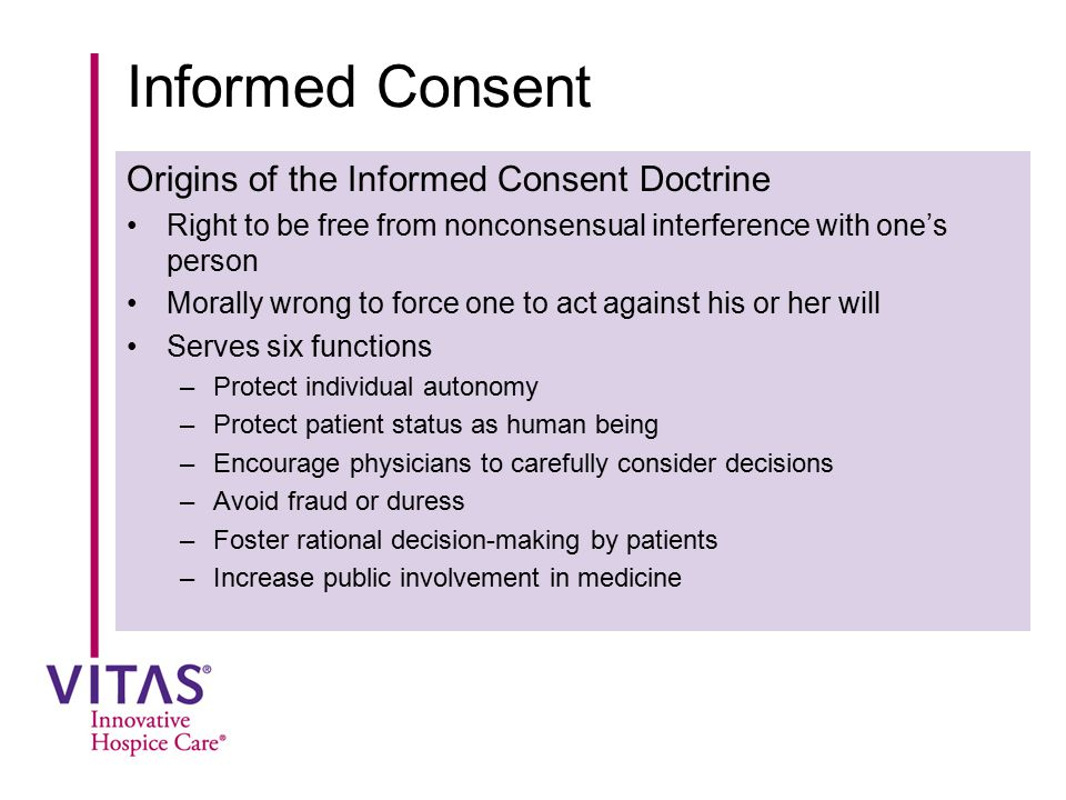 Informed Consent Origins of the Informed Consent Doctrine