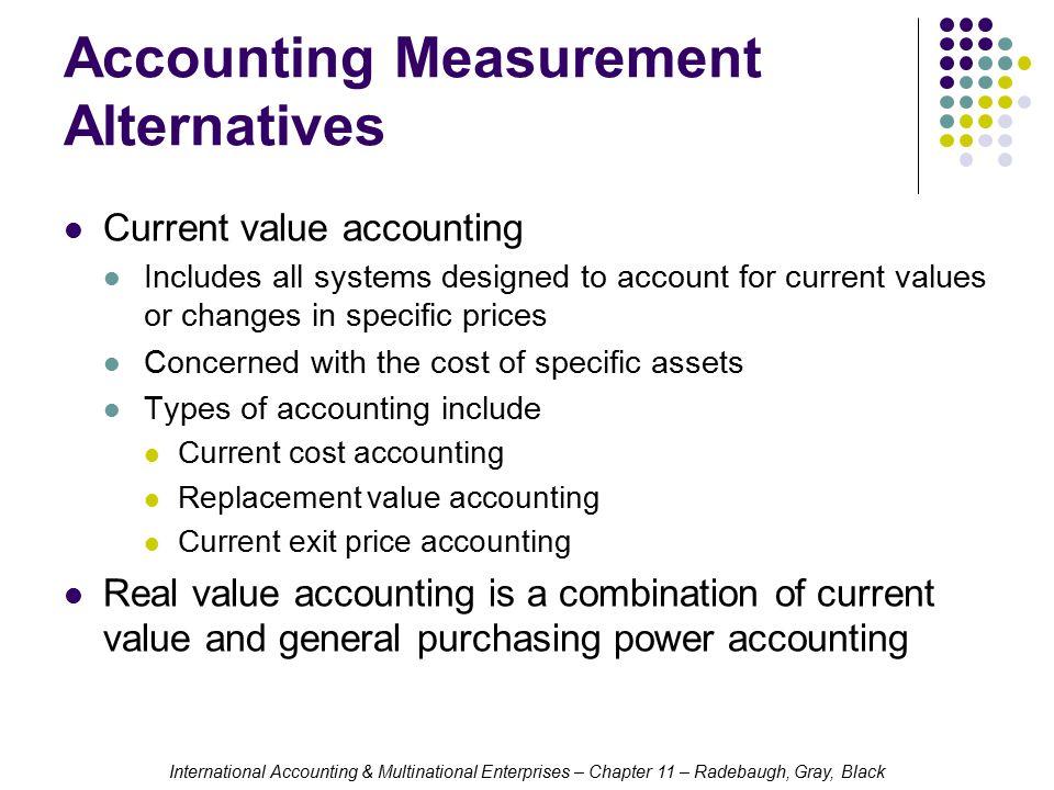 Accounting Measurement Alternatives