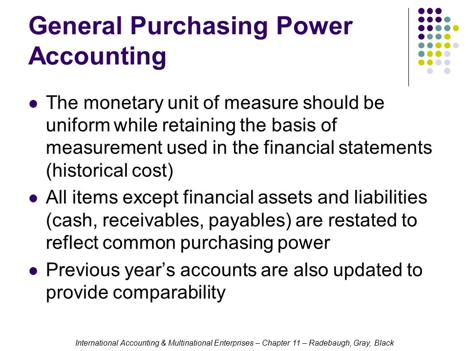 General Purchasing Power Accounting