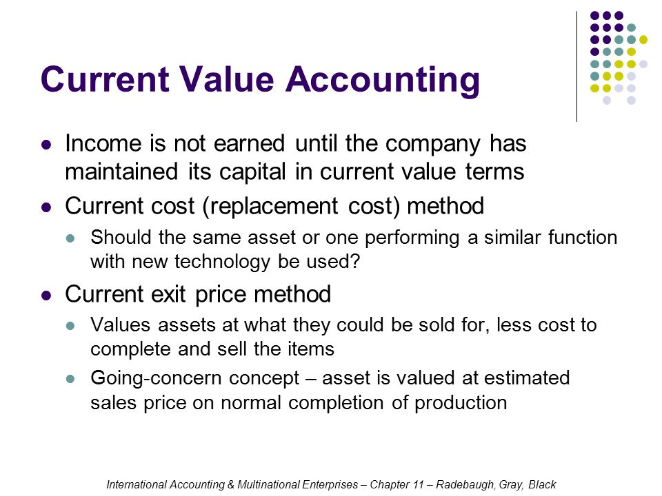 Current Value Accounting