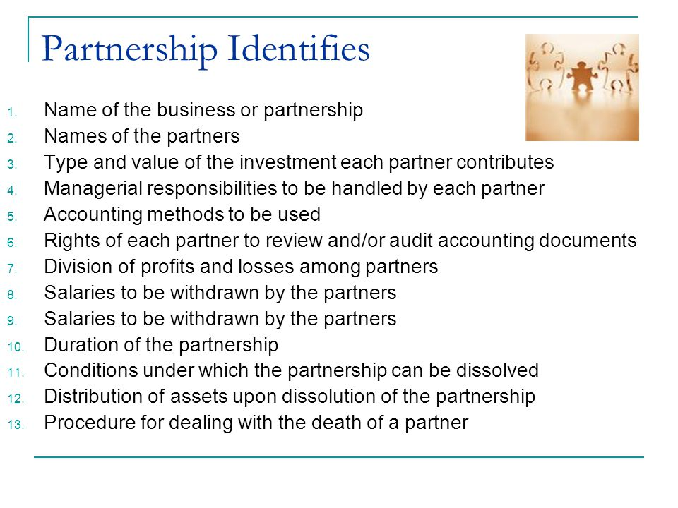 Partnership Identifies
