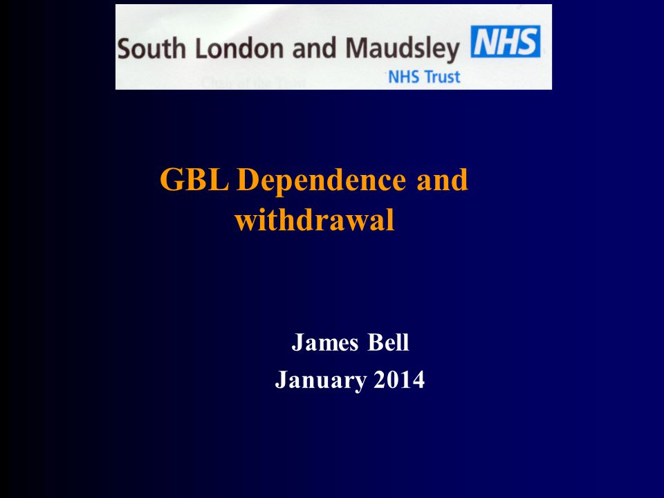 GBL Dependence and withdrawal
