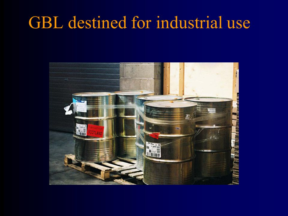 GBL destined for industrial use