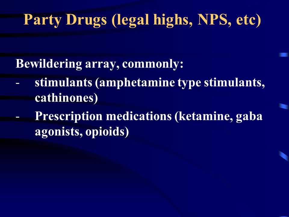 Party Drugs (legal highs, NPS, etc)