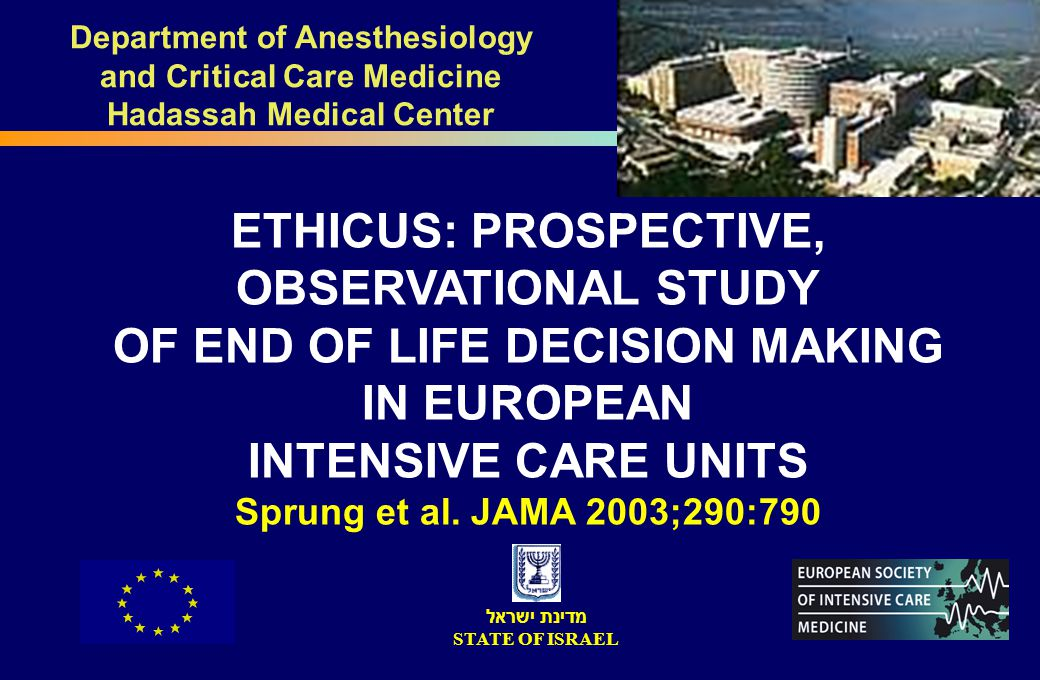 Department of Anesthesiology and Critical Care Medicine Hadassah Medical Center