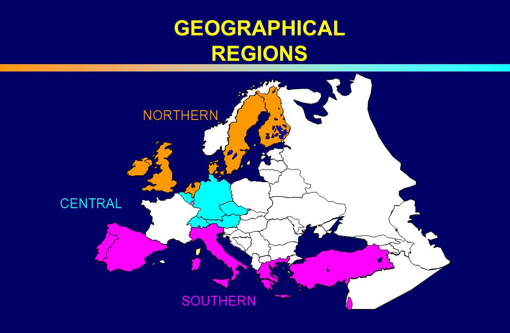 GEOGRAPHICAL REGIONS CENTRAL NORTHERN SOUTHERN