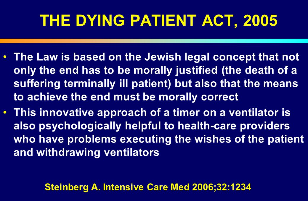 THE DYING PATIENT ACT, 2005