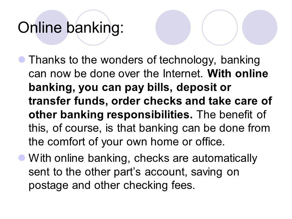 Online banking: