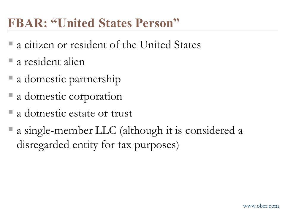 FBAR: United States Person