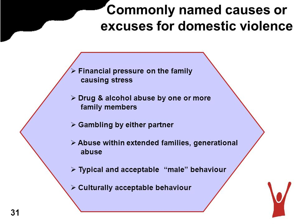 Commonly named causes or excuses for domestic violence