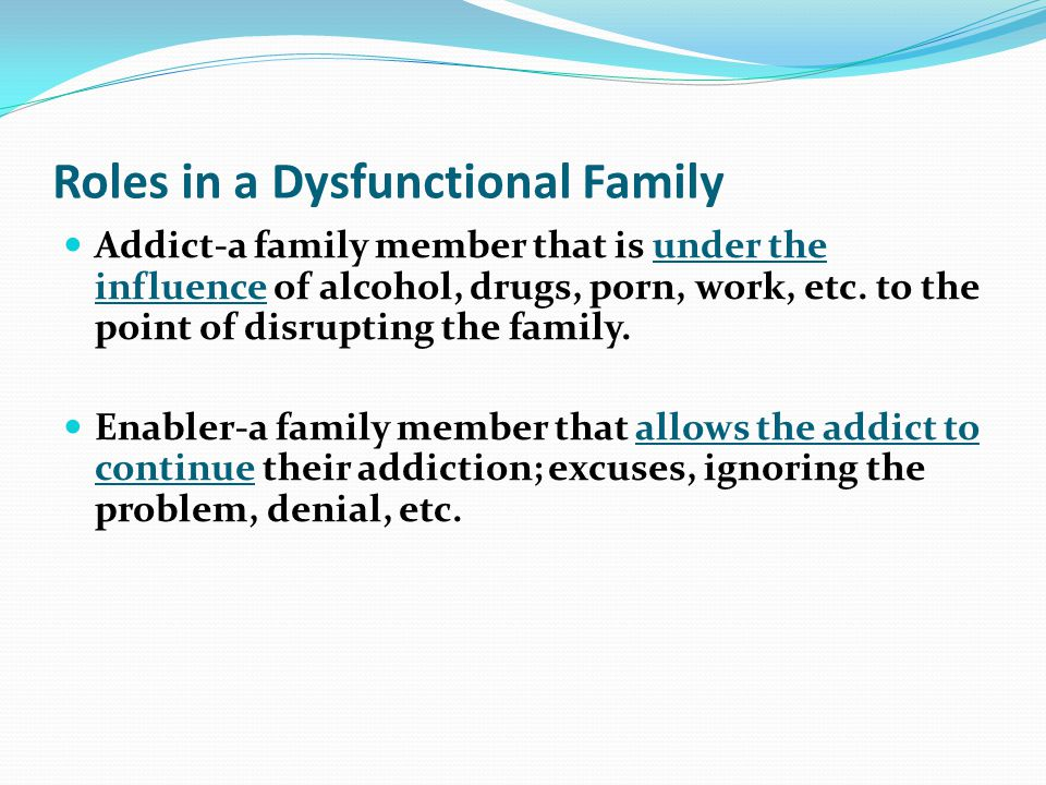 Roles in a Dysfunctional Family