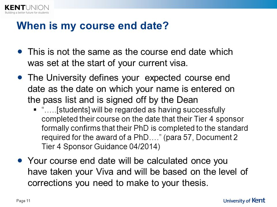 When is my course end date