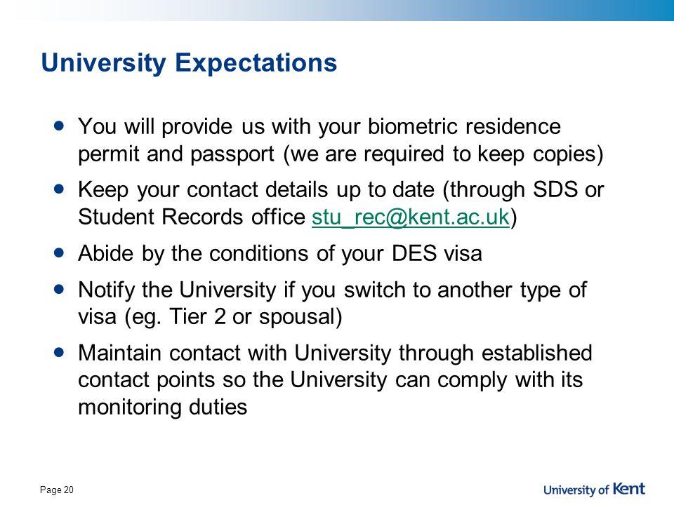 University Expectations
