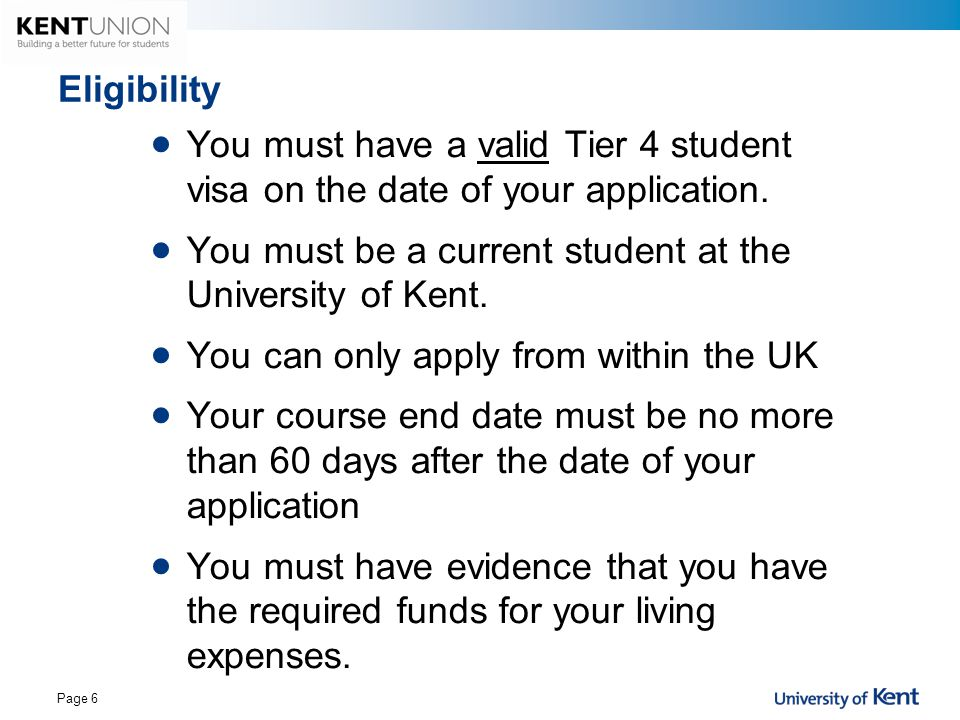 You must be a current student at the University of Kent.