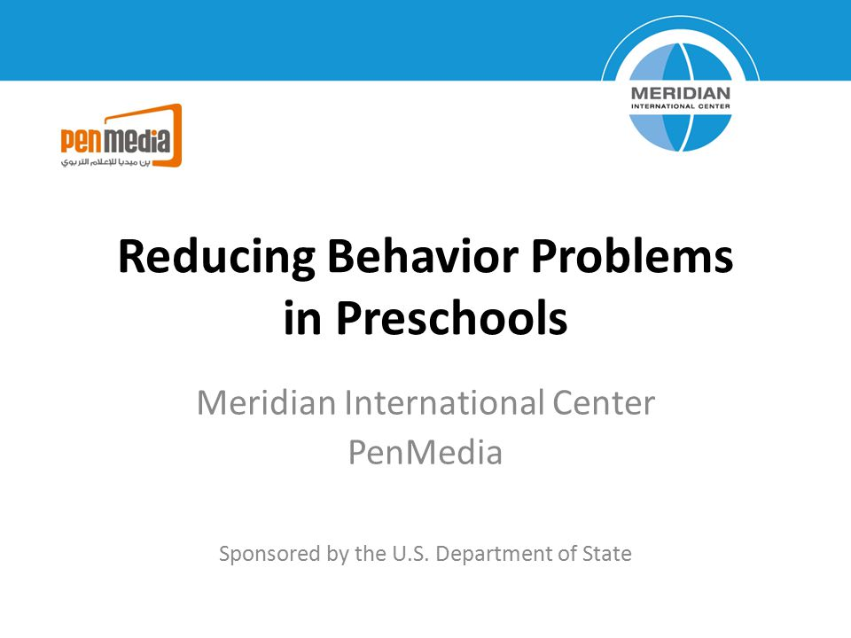 Reducing Behavior Problems in Preschools