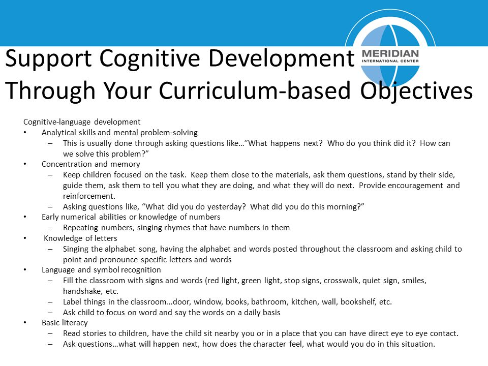 Support Cognitive Development Through Your Curriculum-based Objectives